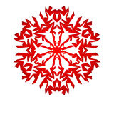 Christmas background with white paper snowflake Stock Photography