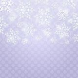Christmas Background with White Shiny Snowflakes Royalty Free Stock Photography