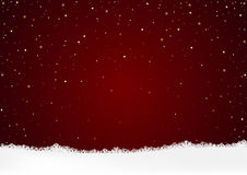 Christmas Background and White Snow Royalty Free Stock Photography