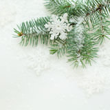 Christmas background with white snowflake Royalty Free Stock Image