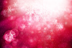 Christmas background with white snowflakes Stock Photo