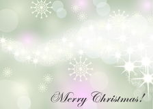 Christmas background with white snowflakes Royalty Free Stock Image