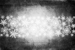 Christmas background with white snowflakes, grungy style Stock Images