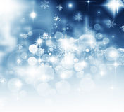 Christmas background with white snowflakes Royalty Free Stock Images