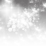 Christmas background with white snowflakes Royalty Free Stock Photography