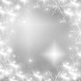 Christmas background with white snowflakes Royalty Free Stock Photo