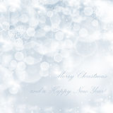 Christmas background with white snowflakes Stock Images