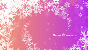 Christmas background with white snowflakes royalty free illustration