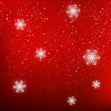 Christmas background with white snowflakes. Christmas red background with white snowflakes Royalty Free Stock Photos