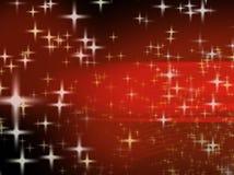 Christmas background width shiny stars. Redish background with lots of shiny stars Stock Photography