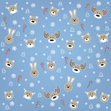 Christmas background with wild animals Stock Photography