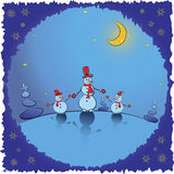 Christmas background. Winter card illustration Stock Photography