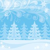 Christmas background, winter forest Royalty Free Stock Image