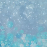 Christmas background. Winter sky, snowflakes and stars. Blue Christmas background. Winter sky, snowflakes and stars Stock Photo