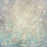 Christmas background. Winter sky, snowflakes and stars Stock Images