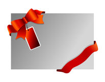 Christmas background wit ribbon Royalty Free Stock Photography
