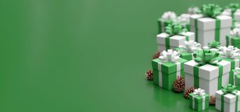 Free Christmas Background With Christmas Gifts Decoration - 3d Rendering Stock Photos - 160828113