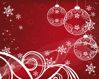 Christmas Background With Filigree Balls Royalty Free Stock Photography