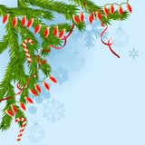 Christmas Background With Garland Royalty Free Stock Images