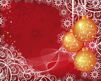 Christmas Background With Golden Balls Royalty Free Stock Images