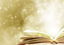 Free Christmas Background With Opened Magic Book Royalty Free Stock Photos - 48181708