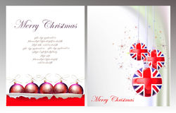 Christmas Background With Ripped Paper And Ball Royalty Free Stock Photo