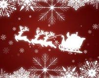 Christmas Background With Santa Sleigh, Illustrati Royalty Free Stock Photography