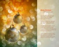 Free Christmas Background With Shiny Globes Royalty Free Stock Image - 22394616