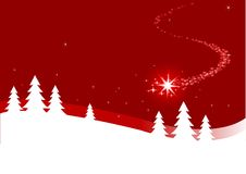 Christmas Background With Shutting Star Stock Photo