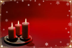 Free Christmas Background With Three Candles Stock Images - 1283414