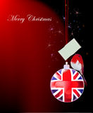 Christmas background withBritish  ball Stock Photos