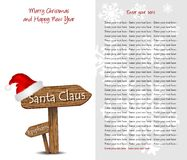 Christmas background with wooden signs and text Royalty Free Stock Photos