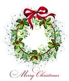 Christmas background with wreath Royalty Free Stock Photography