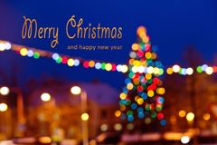 Christmas background with writing Merry Christmas and happy new. Year royalty free stock images