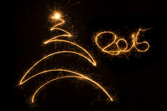 Christmas background. 2015 written christmas background with christmas tree Vector Illustration