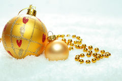 Christmas background with Xmas balls Royalty Free Stock Image