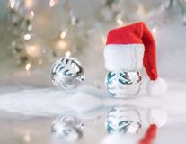 Christmas background with xmas balls stock images