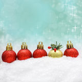 Christmas background with Xmas decor Royalty Free Stock Photos