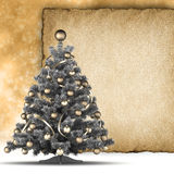 Christmas background - xmas tree and handmade paper Stock Photo