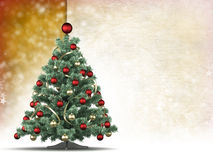 Christmas background - xmas tree and space for text Royalty Free Stock Photography