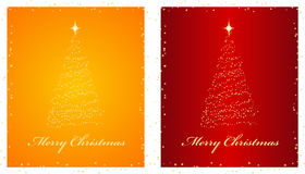 Christmas backgrounds. Two elegant red and orange backgrounds. Vector illustration Royalty Free Stock Images