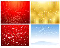 Christmas backgrounds. Four  holiday Christmas backgrounds Royalty Free Stock Images