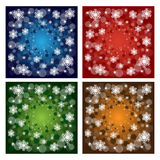 Christmas backgrounds. Set of four Christmas background isolated on white.Four colors:blue,red,green and brown.EPS file available Royalty Free Stock Photography