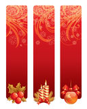 Christmas backgrounds. With christmas decorations and candles Stock Photo