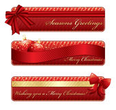 Christmas backgrounds. With christmas decorations and strips Royalty Free Stock Image
