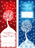 Christmas backgrounds. Christmas banners with place for text Stock Photos