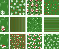 Christmas backgrounds. With Santa Claus Royalty Free Stock Photo