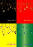 Christmas backgrounds. Christmas abstract backgrounds in different colors royalty free illustration