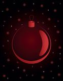 Christmas backgrounds. With red ball and snowflakes Royalty Free Stock Image