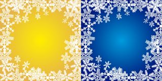 Christmas backgrounds. Yellow and blue christmas backgrounds, merry christmas. vector Stock Photography
